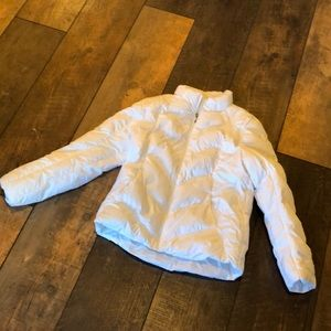 Athletic Works White Poly Puffer Winter Coat S